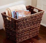 Handmade корзины ротанга PE самонаводят корзины хранения
