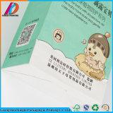 Sac à provisions blanc de papier d'emballage de vente en gros de constructeur de Guangzhou avec le traitement de papier de chaîne de caractères