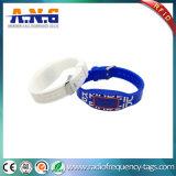Водоустойчивая бирка Wristband RFID силикона для гостиницы и парка атракционов