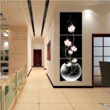 Der 3 Stück-heiße Verkaufs-blüht moderner Wand-Farbanstrich die Farbanstrich-Raum-Dekor-Wand-Kunst-Abbildung, die auf Segeltuch-Ausgangsdekoration Mc-216 angestrichen wird