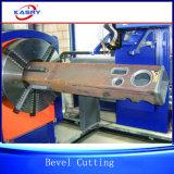 Toda la llama del plasma del CNC del tubo del tubo que bisela y que corta la robusteza