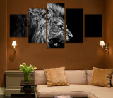 HD напечатало холстину Mc-100 изображения плаката печати декора комнаты печати холстины картины льва белую черную