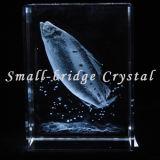 Bloque de pescados del laser del cristal 3D (ND11109)