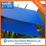 Film PVC gaufré rigide de feuille de transparent en PVC bleu