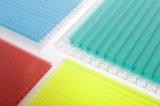 Blauwe drievoudig-Muur 2.7mm van Bayer Blad van de Zon van het Polycarbonaat het Holle