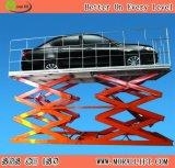 La elevación subterráneo eléctrica del estacionamiento del coche con Scissor