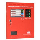 1-8 painel de controle endereçável do alarme de incêndio dos laços