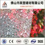 중국 공장은 2.4mm 폴리탄산염 건축재료를 위한 다이아몬드에 의하여 돋을새김된 장 PC 장을 지시한다
