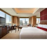 Size Veneer木王および大理石のホテルの寝室の家具