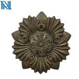 Flores e folhas de ferro forjado para venda a quente elenco e ornamentos de ferro forjado em aço forjado
