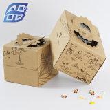 ファースト・フードの紙箱を包むカスタム贅沢な方法印刷によってリサイクルされるギフトのクラフトおよびカップケーキクラフト