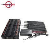 Multifuncionales de sobremesa de alta potencia Teléfono móvil y GPS y WiFi y VHF/UHF Jammer, ajustable WiFi GPS Jammer y Quadcopters Drone Jammer Control remoto