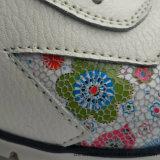 La moda casual de cuero auténtico de la mujer los zapatos con suela plana