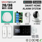 de Slimme Veiligheid van het Alarm van het Huis 2g/3G WiFi/GSM met Contactdoos/Camera/Relais/Verlichting