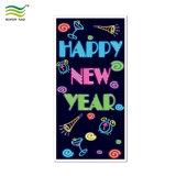 Año Nuevo 2018 Cubierta de la puerta decorativo calcetín/puerta/Puerta envuelve
