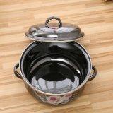 5PCS熱いデザインミラーの艶出しのアップリケのエナメルの鍋