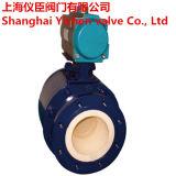 압축 공기를 넣은 액추에이터 플랜지 유형 세라믹 공 벨브