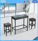 Bar móveis de vime PE banquetas e mesa
