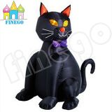 Outdoor Giant Inflável Halloween Black Cat para venda