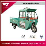 電気ハイブリッド60Vおよび乗客のためのガソリン3荷車引きの三輪車