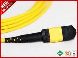 12 Gele Jasje van de Kabel van de Vezel van de Boomstam MTP van vezels Singlemode Optische