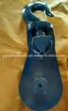 O bloco de fragmento de conversa super do campeão H430 com gancho forjado bronzeou a polia coberta