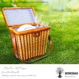 Hongdao mayorista decorativo de color Willow cesta de picnic natural con personalizada -E Tamaño