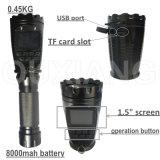 appareil-photo de la lampe-torche DVR d'appareil-photo de torche de l'étalage 1.5inch pour la patrouille de garantie de police