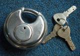 Cadeado de aço inoxidável, bloqueio de disco, cadeado (AL60-70-80-90)