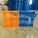 Стандарт ЕС хранения дважды перед лицом Пластиковый поддон с 3 горизонтальных полос