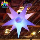 Decke, die Stern der Ballon-aufblasbaren Hochzeits-Dekoration-Beleuchtung-Partei-LED bekanntmacht