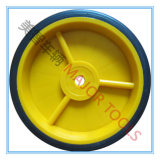 150mm PVC 타이어 작은 단단한 피마자 바퀴