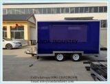 pour le chariot de restauration de double porte de vente