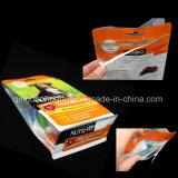 알루미늄 지퍼를 가진 위로 포장 음식 비닐 봉투를 서 있으십시오