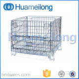 Folding Rolling Metal Steel Storage Wire Mesh Gaiolas com rodas