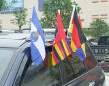 Высококачественные рекламные окна автомобиля флаги