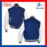 Настраиваемый логотип Healong спортивной одежды для мужчин с термической возгонкой шестерни бейсбольные куртки