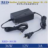 Xed-3013s 36W DC12V 3A 47-63Hz Desktop AC/DC Power Adapter