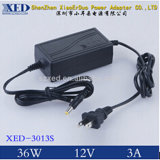 Xed-3013s 36W DC12V 3A 47-63Hz Desktop AC/DC Power Adapter