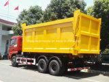 25 toneladas de Foton 6X4 de brazo de gancho de leva resistente caen el carro de la basura