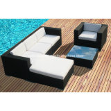 Nuovo! Il sofà del rattan ha impostato per esterno/salone con il blocco per grafici di alluminio/SGS (401)