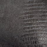 伸縮性があるワニの皮は衣服の動悸のためのPUののどの革を模倣する