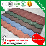 Matériau de construction coloré 50 ans de garantie de couleur de feuille en acier ondulée enduite de toiture