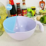 2en1 Cuisine Fruits/légumes lavage en plastique Panier Le panier de lavage avec crépine de riz avec Colanders et de la poignée