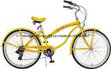V Brake&Rear 6speed (SH-BB033)를 가진 노란 Beautiful Beach Bike