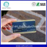 Unteres Preis-Firmenzeichen gedruckte Metallkarten-Visitenkarte