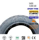 La motocicleta del neumático de la vespa parte el neumático 3.50-10 de la motocicleta del neumático de la motocicleta de la moto sin tubo
