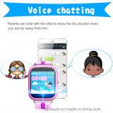 Colorido gran pantalla táctil GPS tracker reloj para niños (d19)