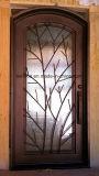 L'Australie Standard Double vitrage extérieur porte d'entrée en fer forgé