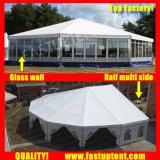 2018 Fastup tente côté haut blanc Multi Decagon tente pour événement sportif de 15m de diamètre de 200 personnes places Guest